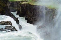 Gullfoss Wasserfall stockbild
