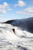 Gullfoss Wasserfall Stockfoto