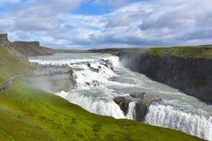 Gullfoss Wasserfall Lizenzfreie Stockfotos