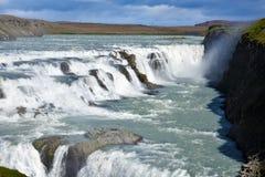 Gullfoss Wasserfall Lizenzfreies Stockbild