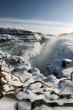 Gullfoss Wasserfall Lizenzfreie Stockbilder
