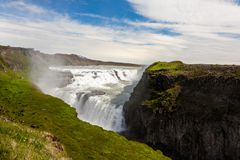Gullfoss Wasserfall in Island stockfoto