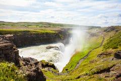 Gullfoss Wasserfall in Island lizenzfreies stockbild