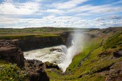 Gullfoss Wasserfall in Island Lizenzfreie Stockfotos