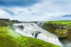 Gullfoss Wasserfall in Island lizenzfreie stockfotografie