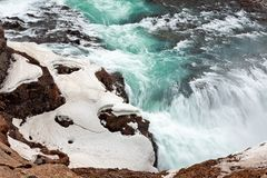 Gullfoss Wasserfall in Island stockfotos