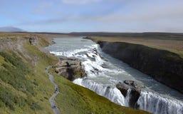 Gullfoss Wasserfall in Island Stockbild