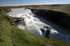 Gullfoss Wasserfall Island Lizenzfreies Stockbild