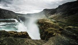 Gullfoss Wasserfall Island Stockbild