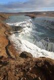 Gullfoss Wasserfall, Island Lizenzfreies Stockfoto