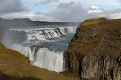 Gullfoss Water Fall in Iceland stock images
