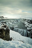 Gullfoss water in iceland Royalty Free Stock Image