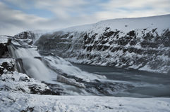 Gullfoss water in iceland Stock Photos