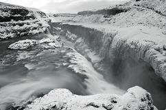 Gullfoss water in iceland Stock Photo