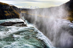 Gullfoss Waterfall Stock Image