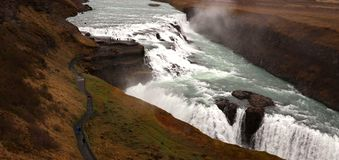Gullfoss waterfall at the Golden Circle royalty free stock images