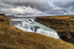 Gullfoss Waterfall on the Golden Circle in Iceland royalty free stock photos