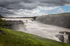 Gullfoss waterfall the golden fall in iceland stock photography