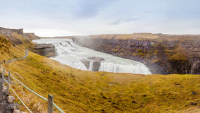 Gullfoss waterfall on Hvita river - Iceland Royalty Free Stock Photography