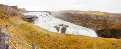 Gullfoss waterfall on Hvita river - Iceland Stock Photos
