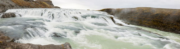 Gullfoss waterfall on Hvita river - Iceland Stock Images