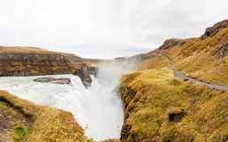 Gullfoss waterfall on Hvita river - Iceland Stock Photography