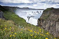 Gullfoss Waterfall in Icelad. Gulfoss (Golden Falls) waterfall is located in the canyon of the Hvita river in southwest Iceland. It is one of the most populat Royalty Free Stock Photos