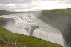 Gullfoss waterfall, Iceland. One of the most beautiful waterfalls in Iceland - Gullfoss Stock Photos