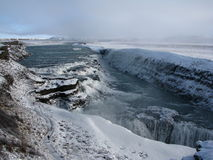 Gullfoss waterfall, Iceland. One of the largest in Europe Royalty Free Stock Photography