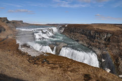 Gullfoss waterfall, Iceland Royalty Free Stock Photos