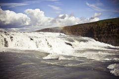 Gullfoss Waterfall in Iceland. Gulfoss (Golden Falls) waterfall is located in the canyon of the Hvita river in southwest Iceland. It is one of the most populat Royalty Free Stock Photos