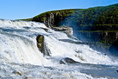 Gullfoss Waterfall in Iceland Royalty Free Stock Images