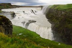Gullfoss waterfall iceland Royalty Free Stock Photo