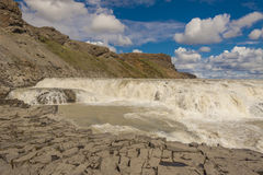Gullfoss waterfall - Iceland. Royalty Free Stock Photos