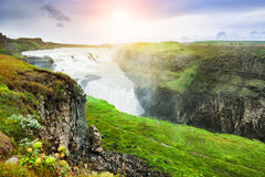 Gullfoss waterfall in Iceland. Stock Photos
