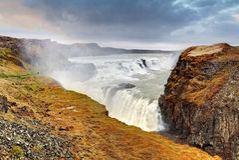 Gullfoss waterfall , Iceland Royalty Free Stock Image
