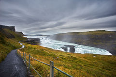 Gullfoss Waterfall Iceland Royalty Free Stock Photography