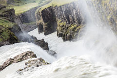Gullfoss Waterfall - Iceland - Detail Stock Photos