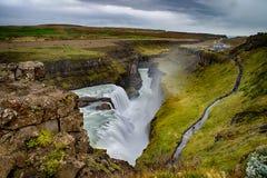Gullfoss waterfall in Iceland stock photos