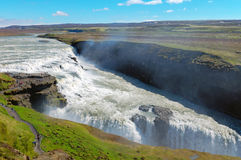 The Gullfoss waterfall in Iceland Stock Images