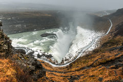 Gullfoss Waterfall, Iceland Stock Image