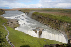 Gullfoss waterfall, Iceland. Stock Images