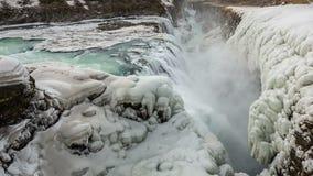Gullfoss waterfall in iceland stock video footage