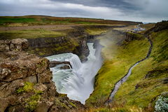 Gullfoss Waterfall In Iceland Stock Photos