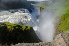 Gullfoss falls - Iceland, August 2018 royalty free stock image