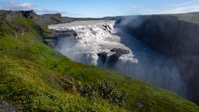 Gullfoss falls - Iceland, August 2018 royalty free stock photography