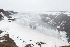 Gullfoss is a waterfall located in the canyon of the Hvítá river in southwest Iceland stock photos