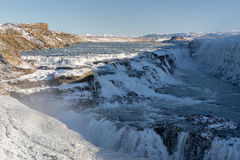 Gullfoss. Waterfall located in the canyon of Hvita river Royalty Free Stock Image
