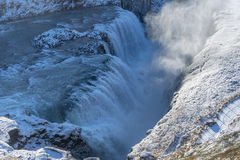 Gullfoss. Waterfall located in the canyon of Hvita river Royalty Free Stock Photo
