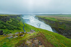 Gullfoss waterfall and rainbow Royalty Free Stock Photography